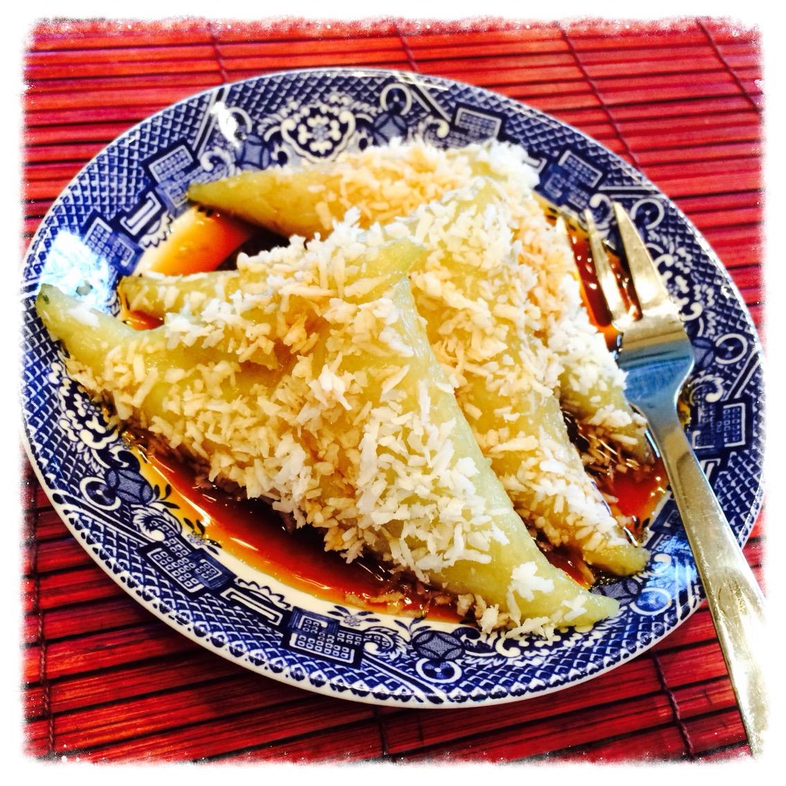 Indonesian Steamed Rice Cake In Banana Leaf